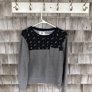 Grey and paisley sweatshirt